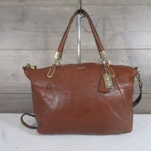 Coach 28095 Brown Leather Kelsey Madison Satchel